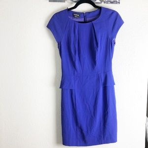 BEBE peplum dress with cap sleeves size 6